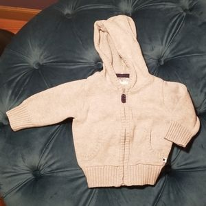 Gray Carter's knitted toddler hoodie
